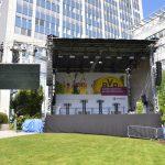 Firmenfeier mit Eventtechnik und Bühne