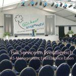 Zeltverleih mit Veranstaltungstechnik Bühne